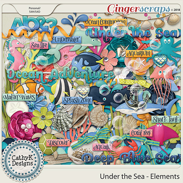 Under the Sea - Elements by CathyK Designs