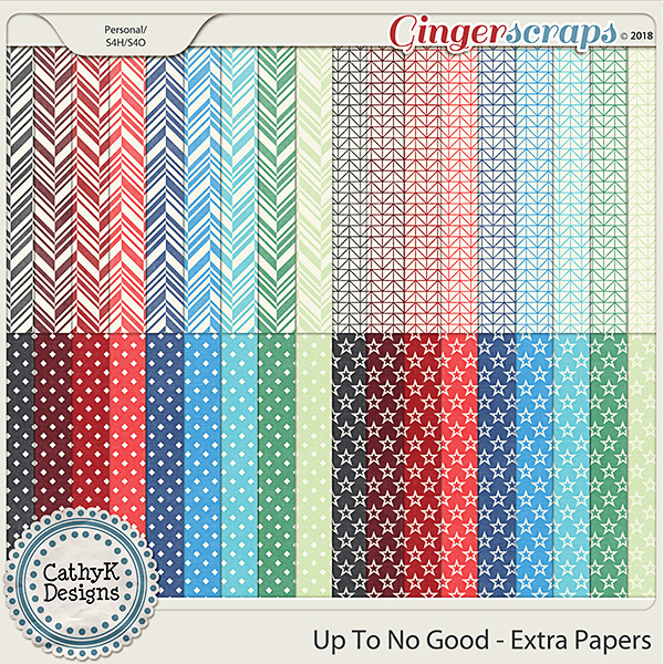 Up To No Good - Extra Papers by CathyK Designs