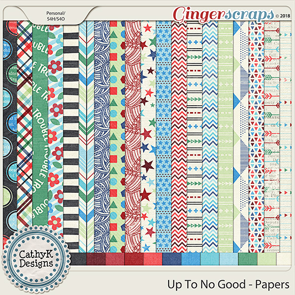 Up To No Good - Papers by CathyK Designs