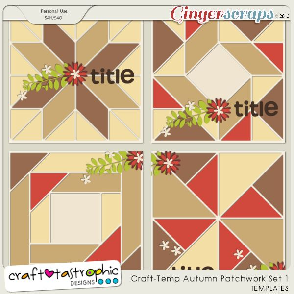 Craft-Templates Autumn Patchwork Set 1