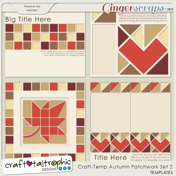 Craft-Templates Autumn Patchwork Set 2