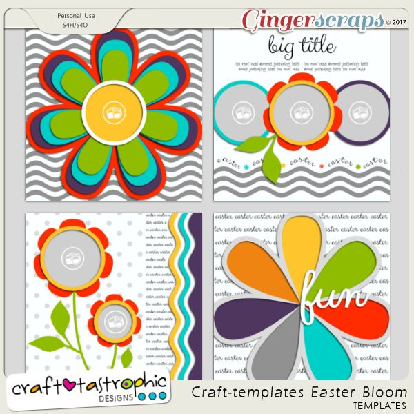 Craft-Templates Easter Bloom