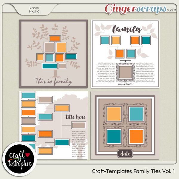 Craft-Templates Family Ties Vol 1