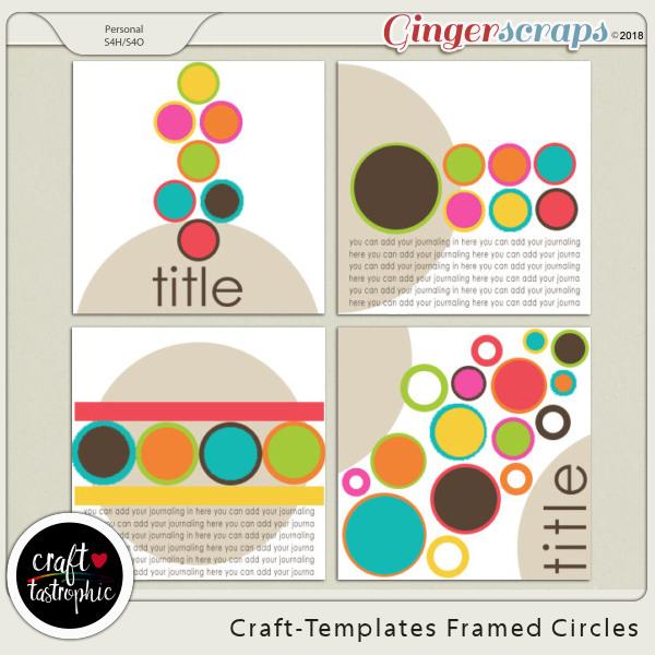 Craft-Templates Framed Circles