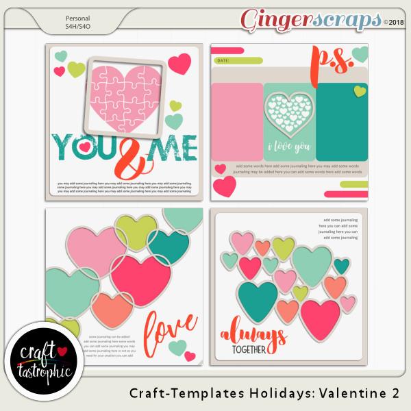 Craft-Templates Holidays Valentine 2