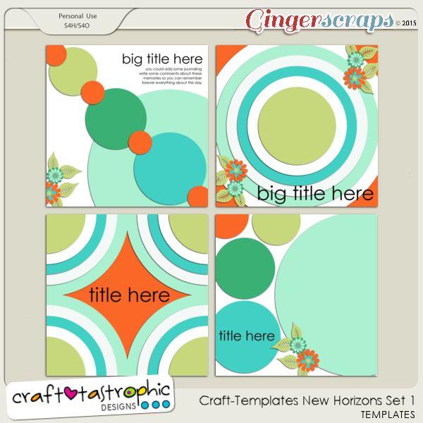 Craft-Templates New Horizons Set 1
