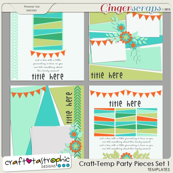 Party Pieces Set 1 by Craft-tastrophic