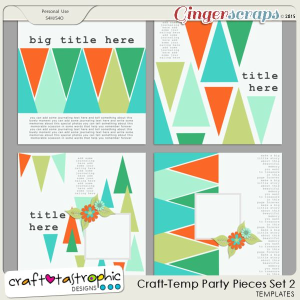 Party Pieces Set 2 by Craft-tastrophic