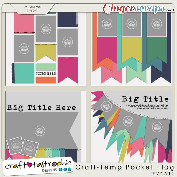 Craft-Templates Pocket Flag