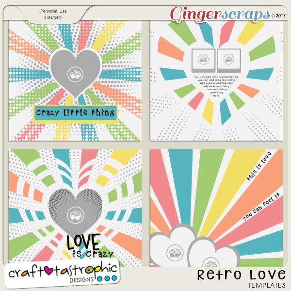 Craft-Templates Retro Love