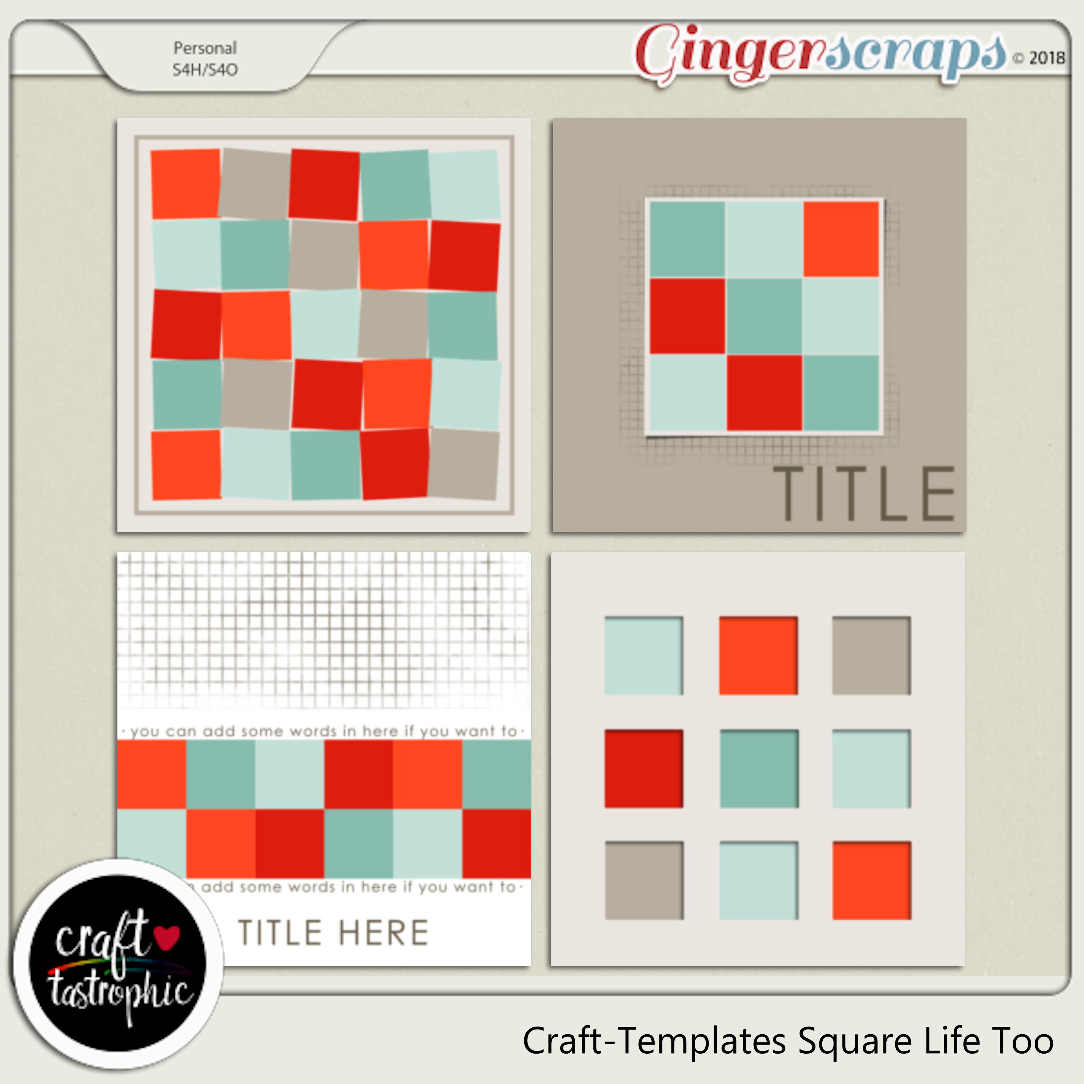 Craft-Templates Square Life Too