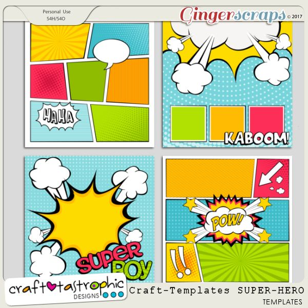Craft-Templates Super Hero