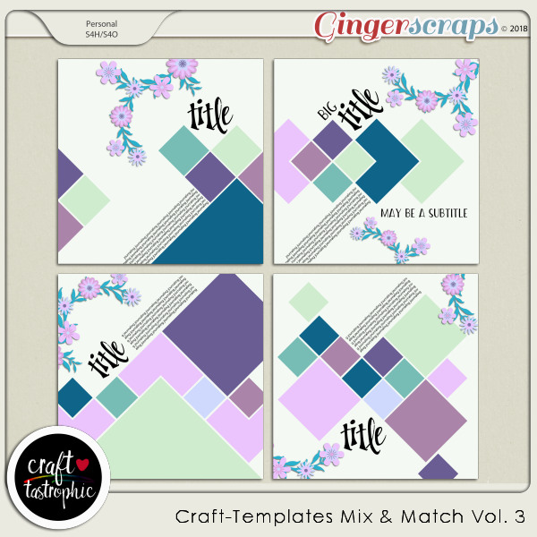Craft-Templates Mix and Match Vol 3