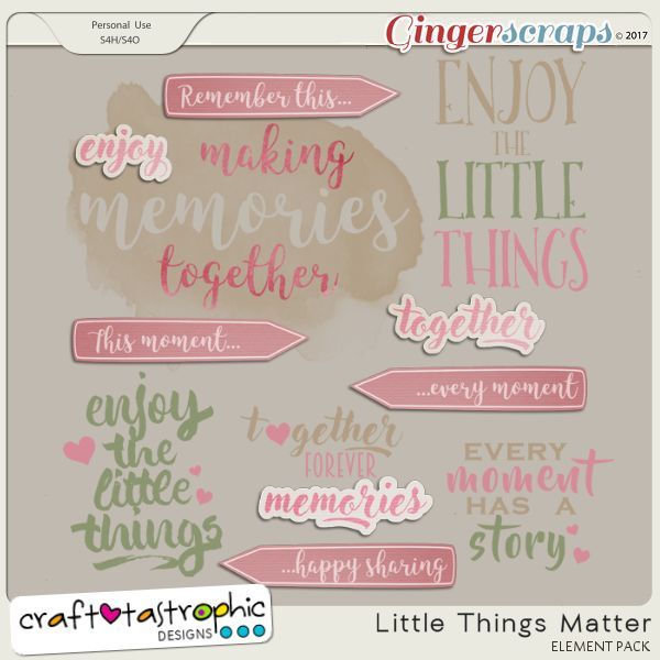 Little Things Matter Wordart