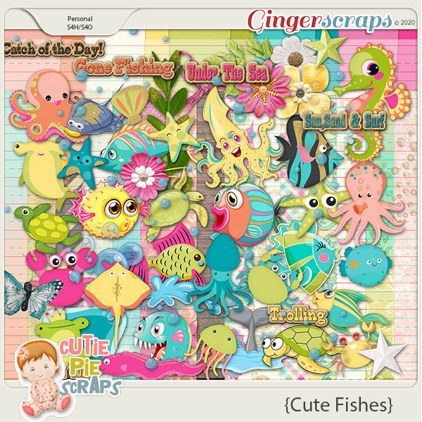 Cute Fishes-Page Kit