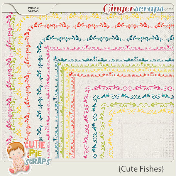 Cute Fishes-Page Borders