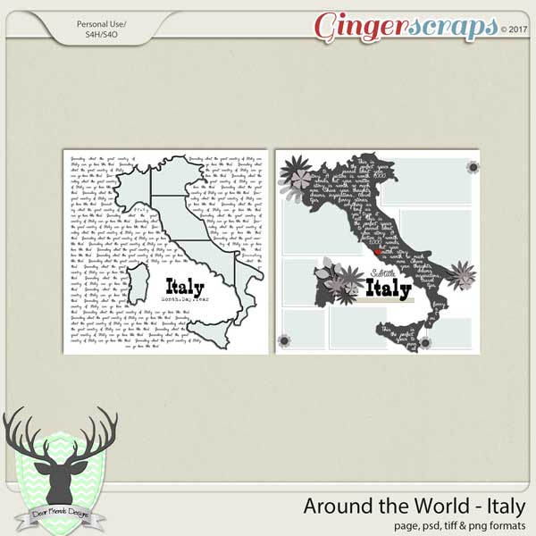 Around the World Countries: by Dear Friends Designs