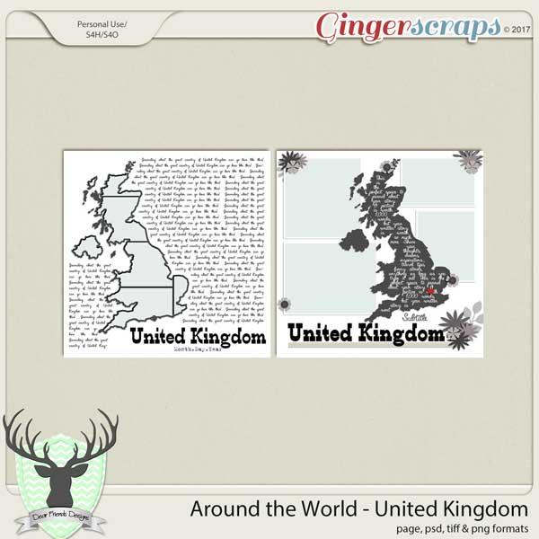 Around the World Countries: United Kingdom by Dear Friends Designs