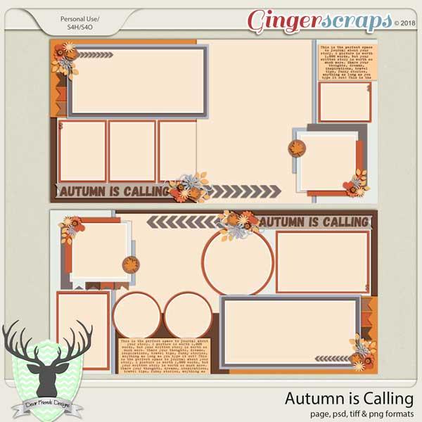 Autumn is Calling Buffet by Dear Friends Designs