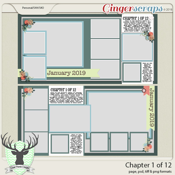 Chapter 1 of 12 Templates by Dear Friends Designs