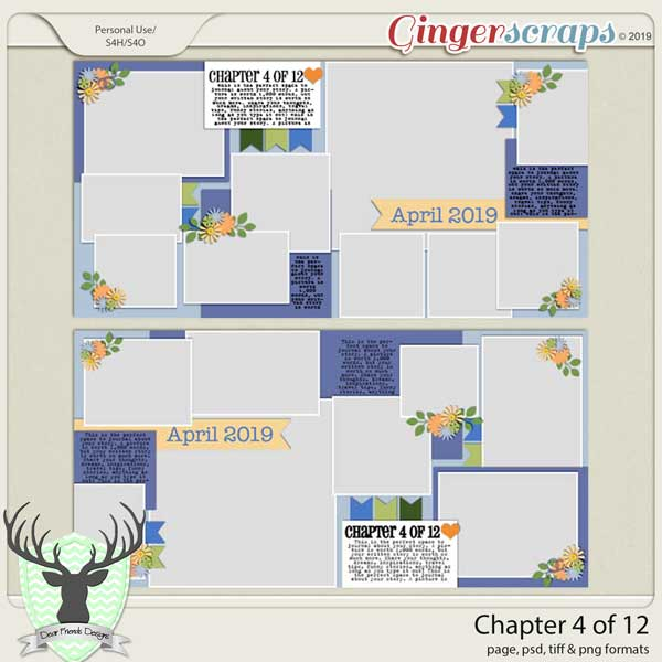 Chapter 4 of 12 Templates by Dear Friends Designs