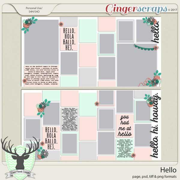 Hello by Dear Friends Designs