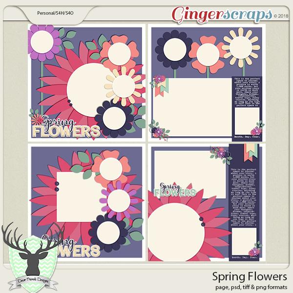 Spring Flowers by Dear Friends Designs