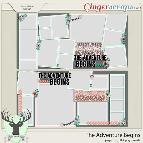 The Adventure Begins Templates by Dear Friends Designs