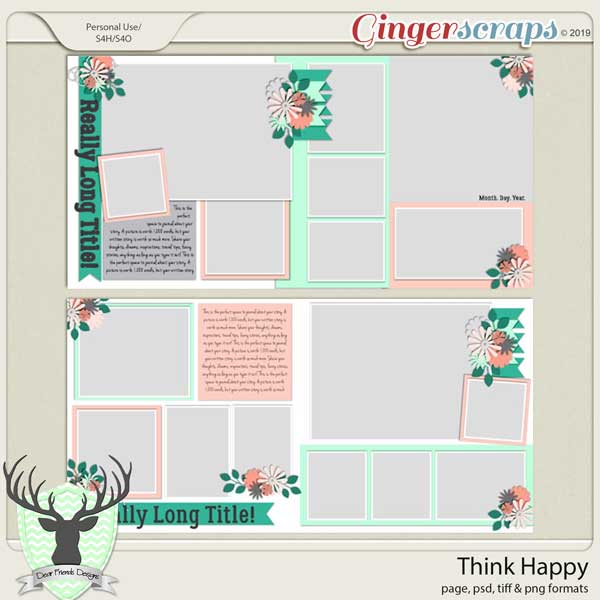 Think Happy by Dear Friends Designs