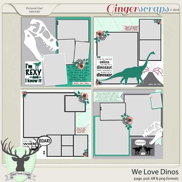 We Love Dinos by Dear Friends Designs