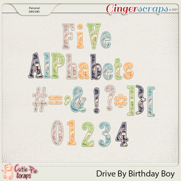 Drive By Birthday Boy Alphabets