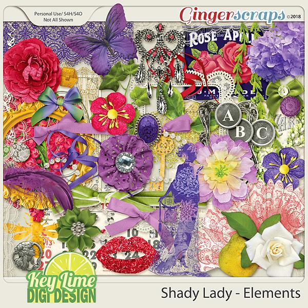 Shady Lady Elements by Key Lime Digi Design