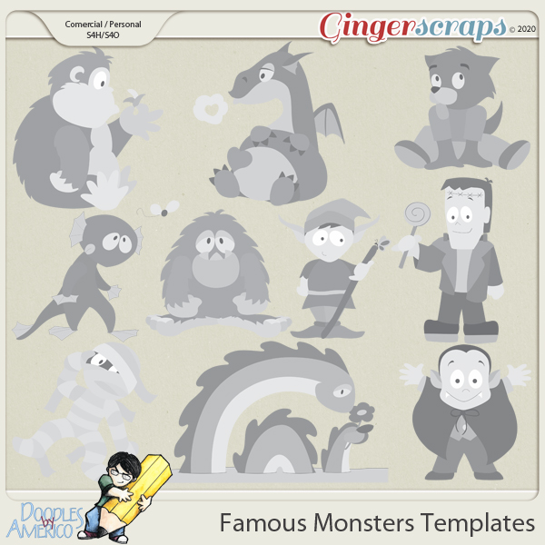 Doodles By Americo: Famous Monsters Templates