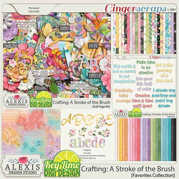 Crafting: A Stroke of the Brush Favorites Collection by Alexis Design Studio and Key Lime Digi Design