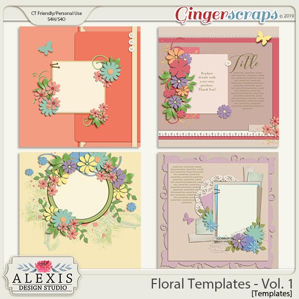 Floral Templates - Vol. 1