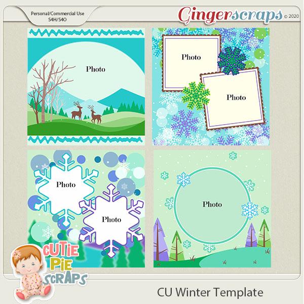 Winter -Templates -12x12 (CU Ok) by Cutie Pie Scraps