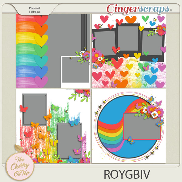 The Cherry On Top:  ROYGBIV Templates