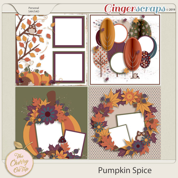 The Cherry On Top:  Pumpkin Spice Templates