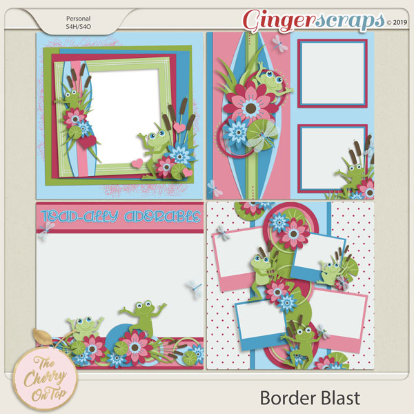 The Cherry On Top Border Blast Templates