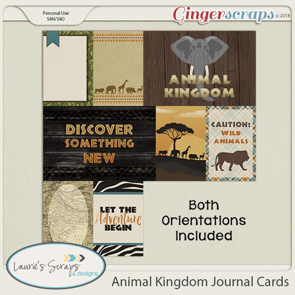 Animal Kingdom Journal Cards