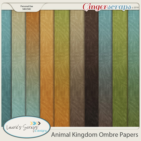 Animal Kingdom Ombre Papers