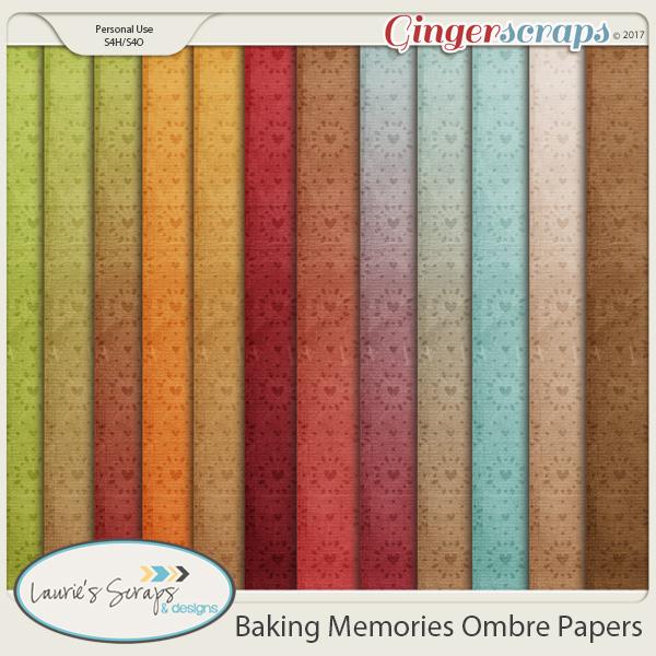 Baking Memories Ombre Papers