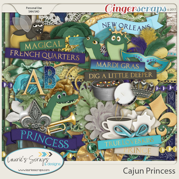 Cajun Princess Page Kit
