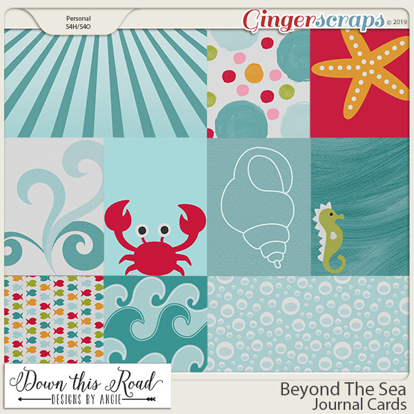 Beyond The Sea | Journal Cards