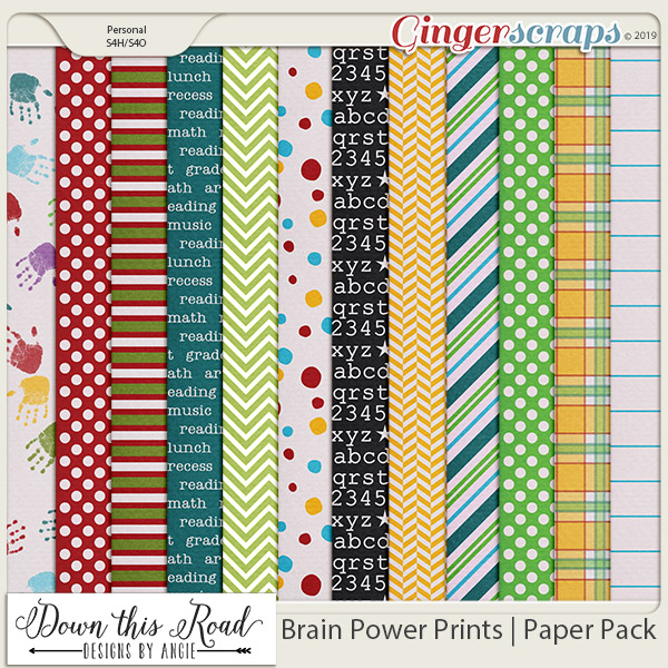 Brain Power Prints | Paper Pack
