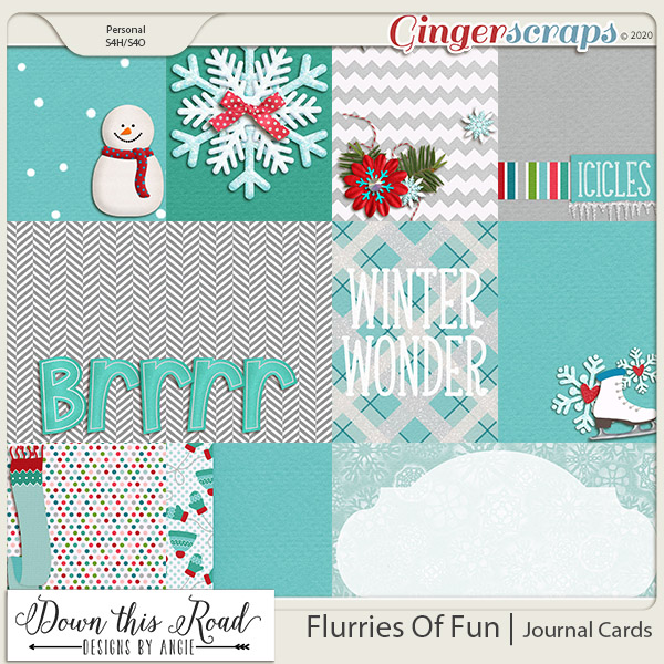 Flurries Of Fun | Journal Cards