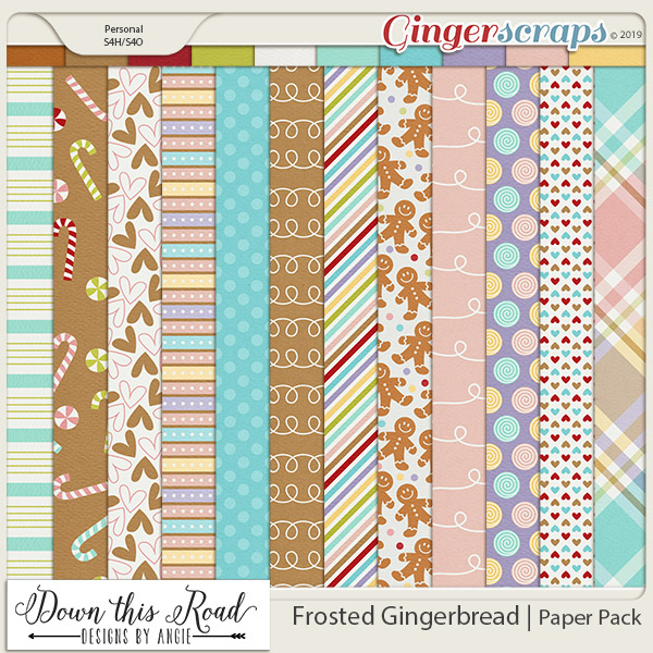 Frosted Gingerbread   Paper Pack