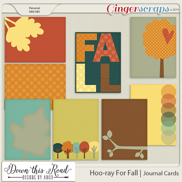 Hoo-ray For Fall | Journal Cards
