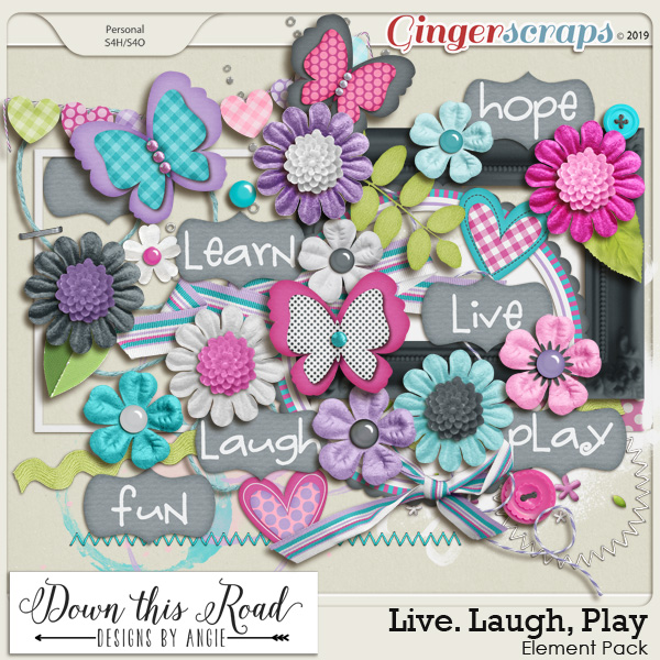 Live. Laugh. Play Element Pack