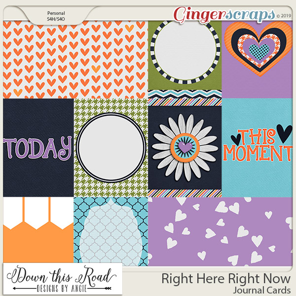 Right Here, Right Now | Journal Cards